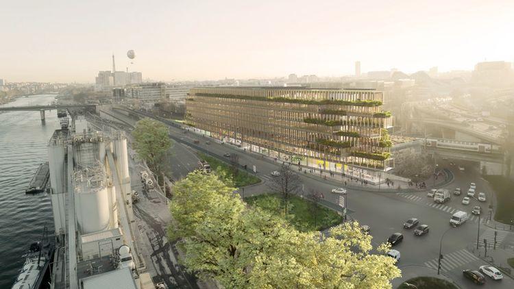 EDA, situé quai d'Issy dans le 15e arrondissement de Paris, sera réalisé à plus de 80% en structure bois.
