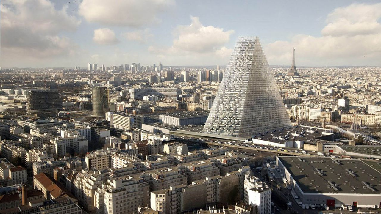 Gratte-ciel de 180m de hauteur, la tour Triangle, réalisée par Unibail, doit prendre place dans le 15e arrondissement parisien.