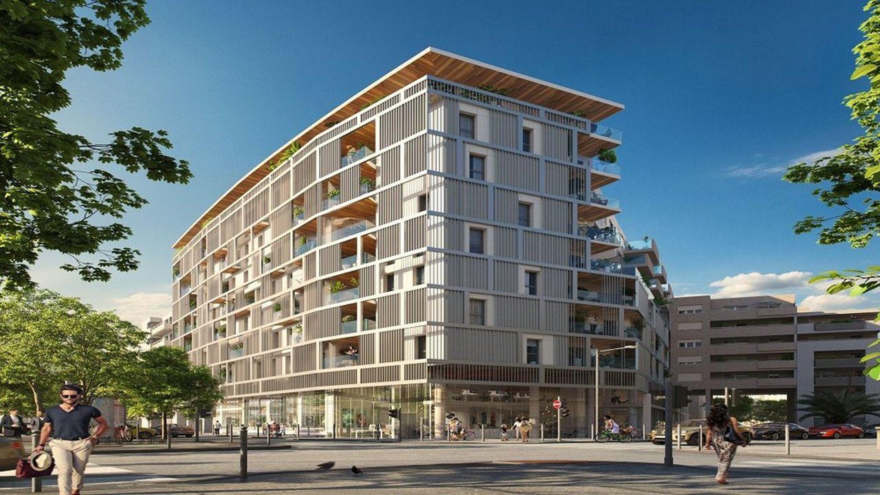 Le programme Initial Pradoréalisé par Icade vise à transformer des bureaux en 113 logements, par la surélévation de trois niveaux en structurelégère (bois et acier).