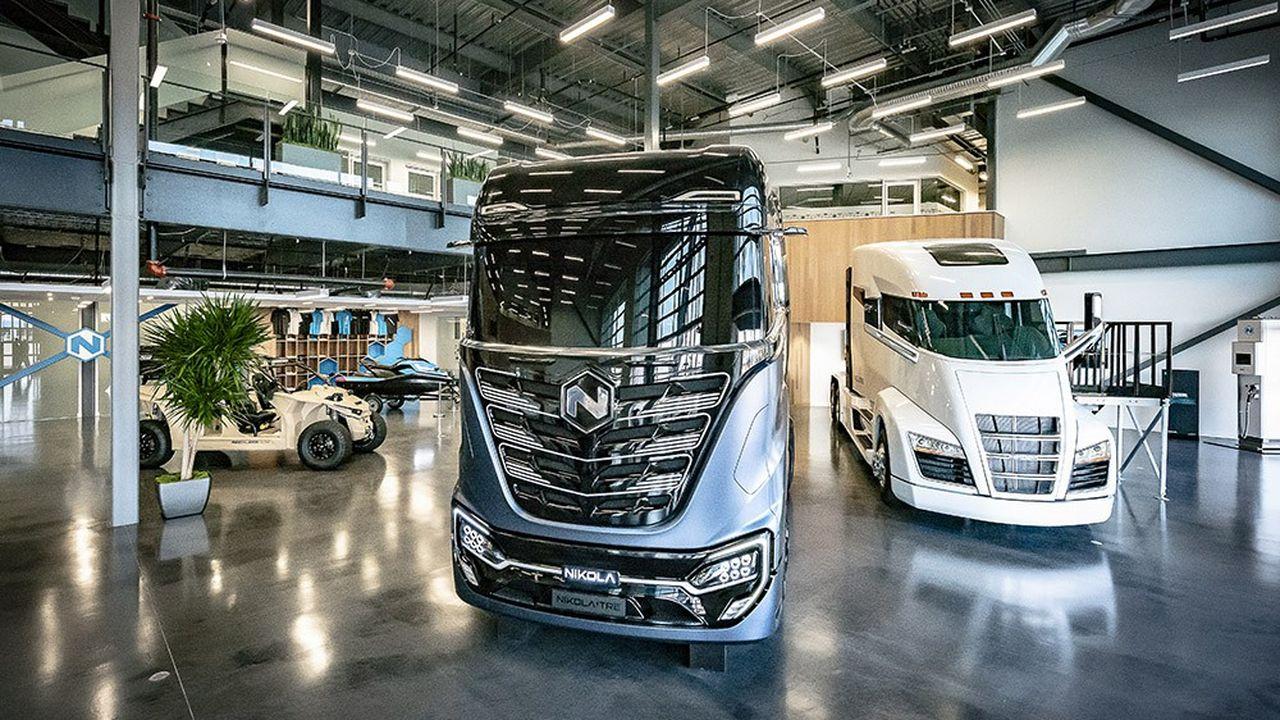 L'entreprise Nikola Motor conçoit des camions roulant à l'hydrogène et à l'électricité.