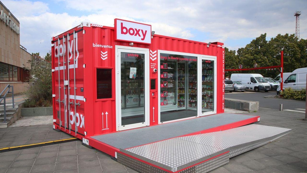 Le premier magasin Boxy