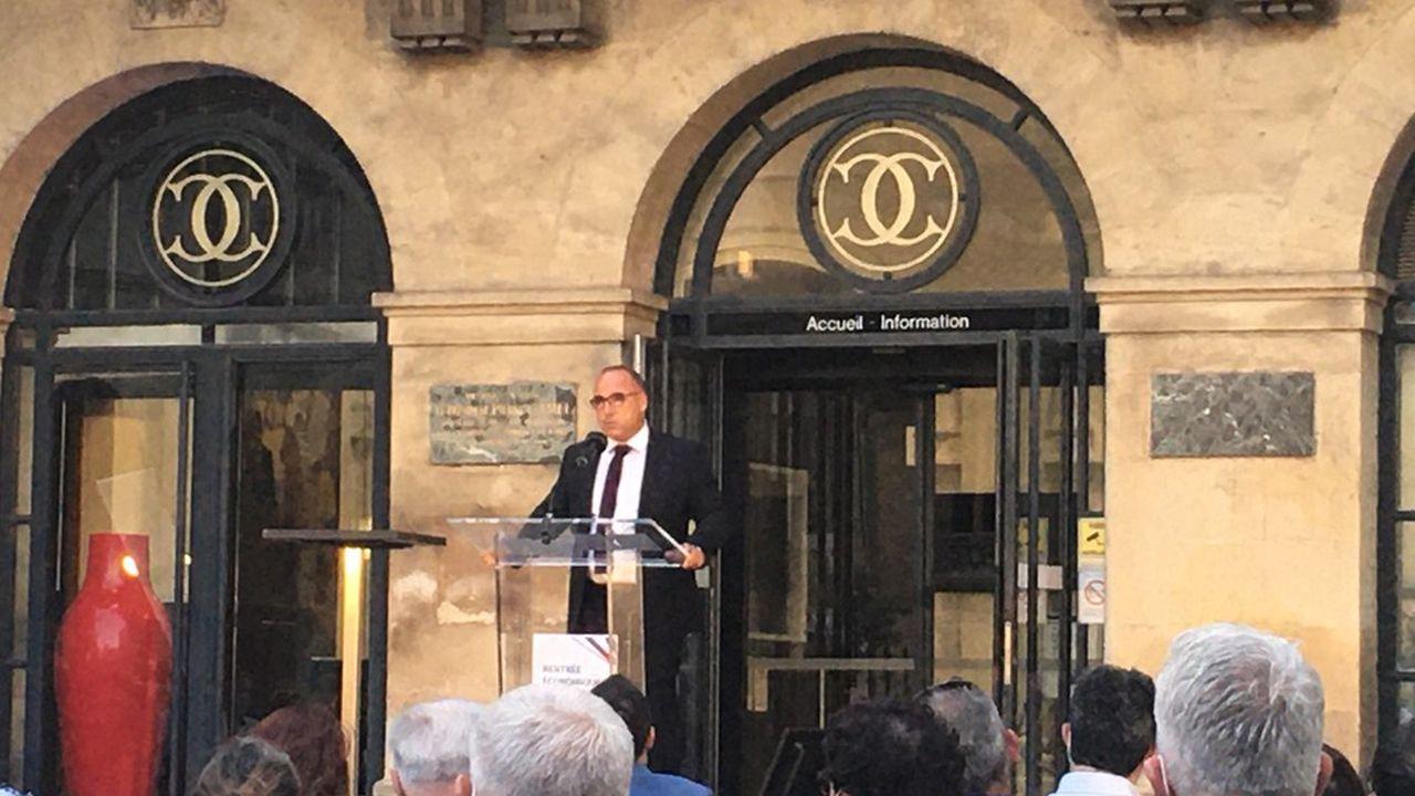 Eric Giraudier, président de la CCI 30.