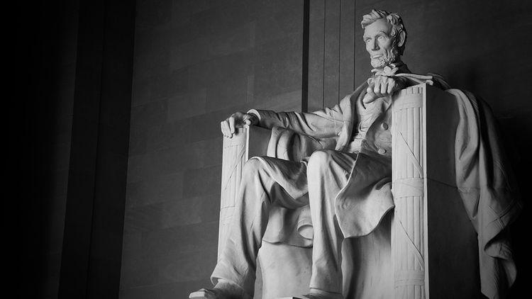 La monumentale statue d'Abraham Lincoln,à Washington.
