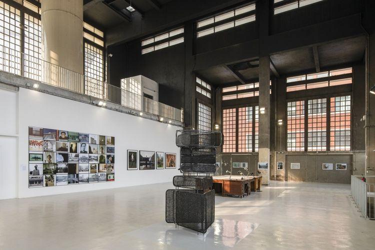 La salle de la grande chaufferie devenue espace d'exposition.
