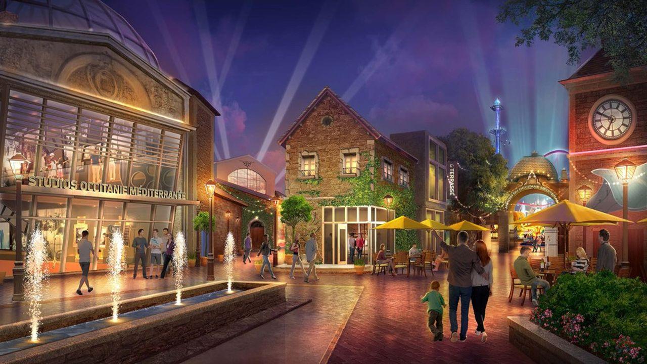 Le projet comprend des studios de tournage et une partie ouverte au public.