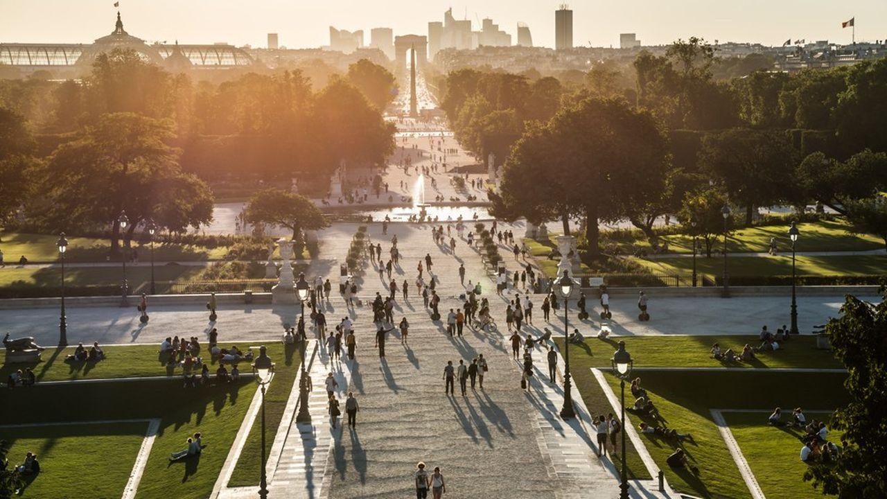 La Grande Allée du jardin des Tuileries.