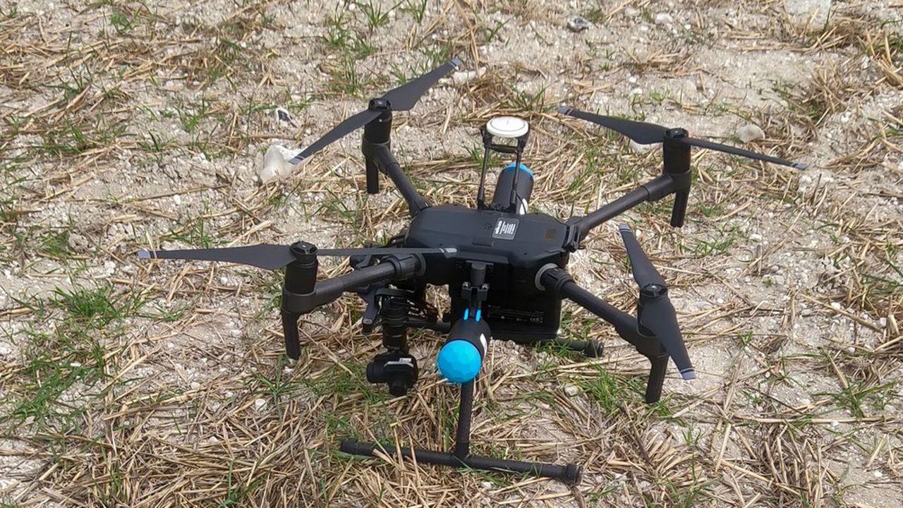 La société Artéka a développé Pyrodetk, un service de détection par drone d'engins explosifs, anciens comme récents.
