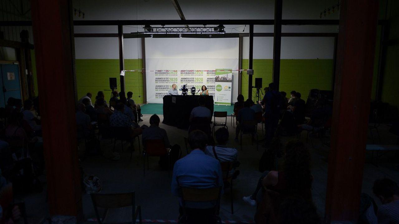 Manon Aubry, députée européenne LFI, et David Cormand, député européen Verts-ALE, lors des Journées d'été des écologistes le 21août 2020.