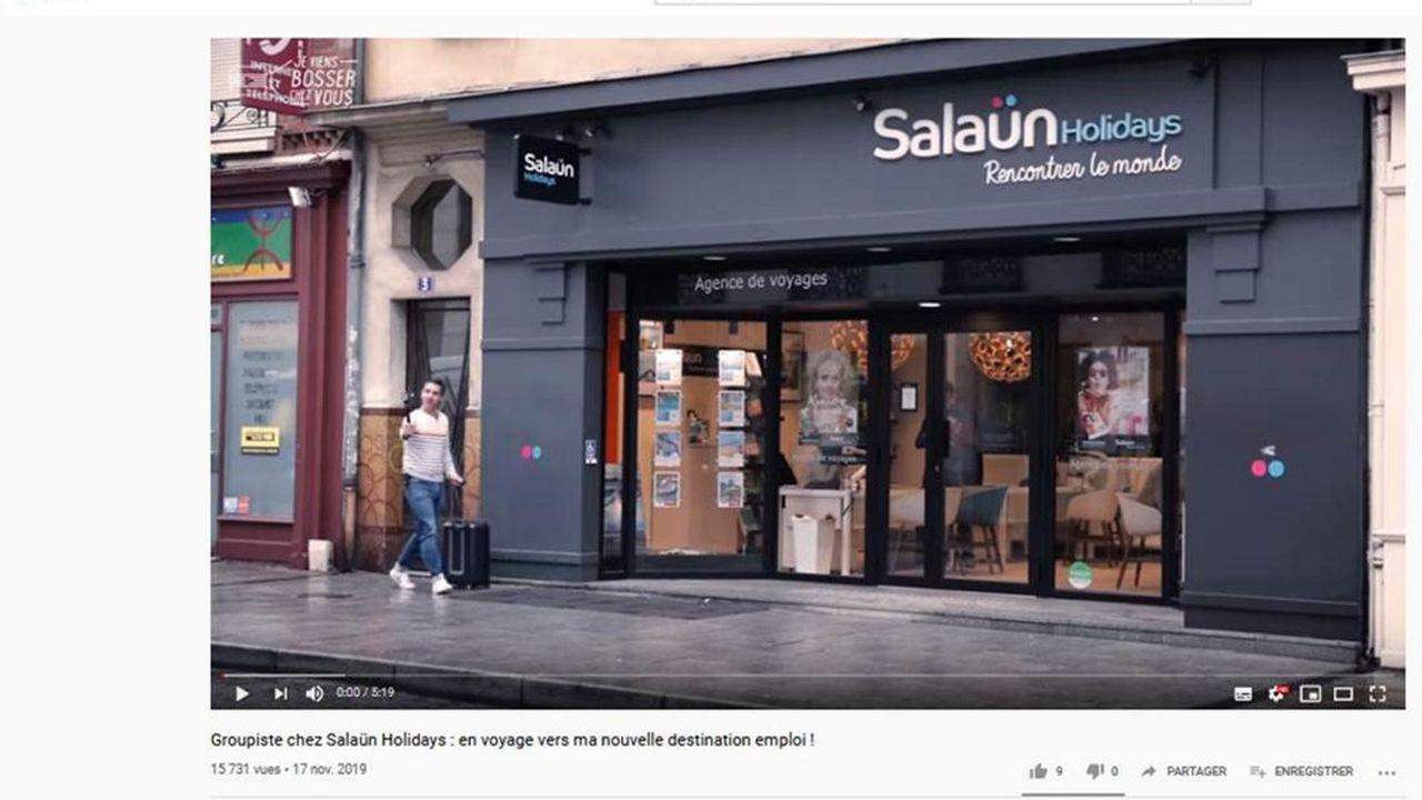 Michel Salaün a décidé de communiquer de façon décalée sur sa société en optant pour un module vidéo convivial.
