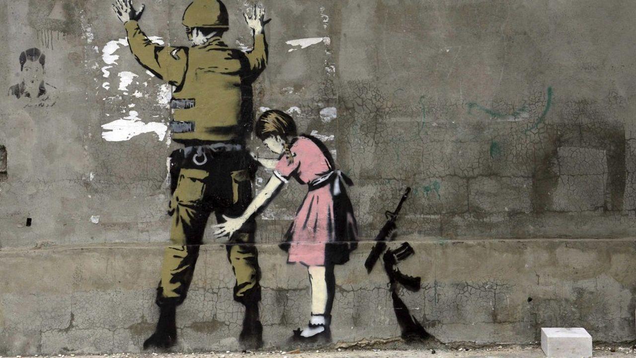 Imaginer ce qui se passerait si on faisait le contraire de ce qui s'est toujours fait est un exercice salvateur, selon le conférencier Christian Monjou. C'est ainsi que naît « La Petite Fille et le Soldat » de Banksy.