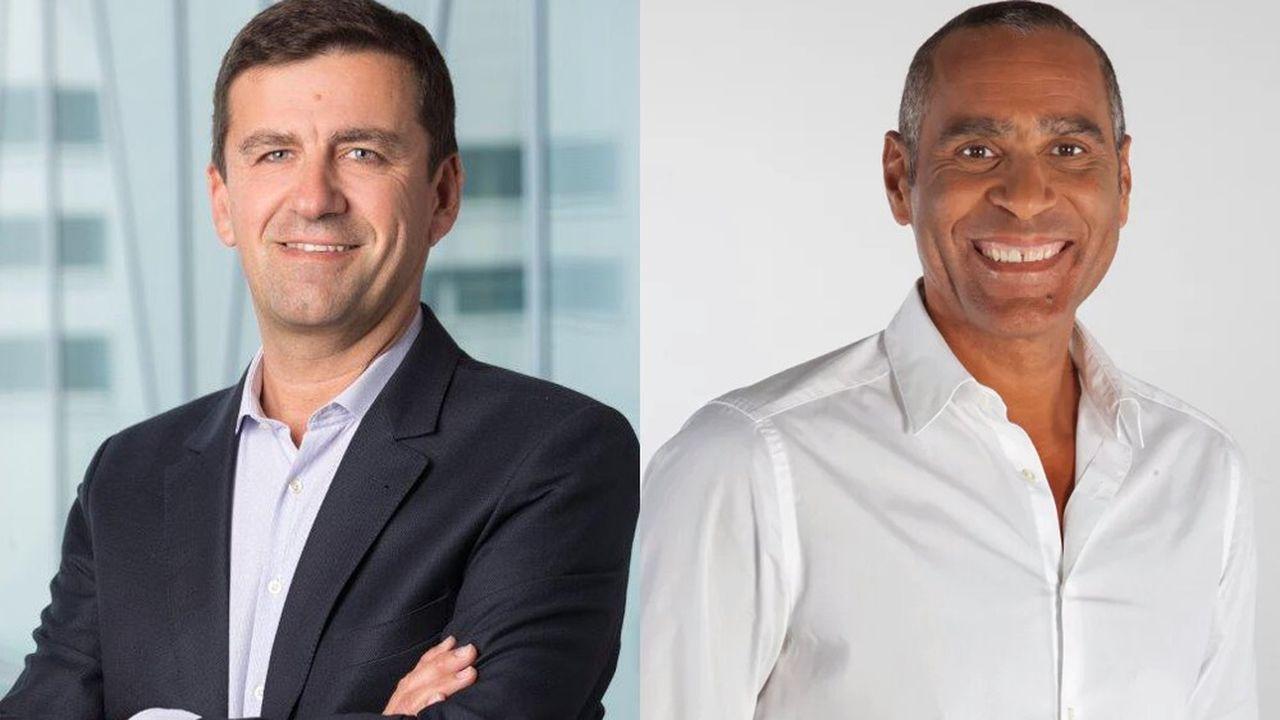 De gauche à droite : François Gay-Bellile, CEO de Coca-Cola France, et Richard Dacoury, ancien basketteur professionnel devenu consultant en communication sport corporate pour la filiale française du groupe américain.