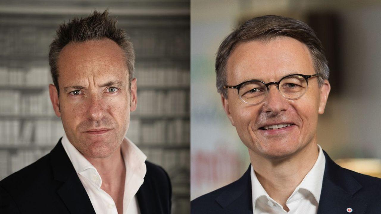 Interview croisée de Damien Viel, directeur général de Twitter en France, et de Dominique Schelcher, PDG de Système U.