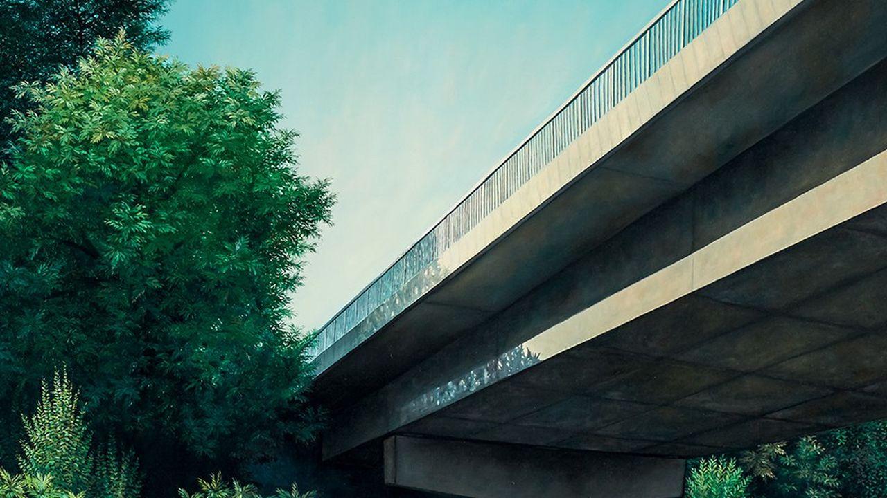 Peinture de Dorian Cohen sur le thème de la route.