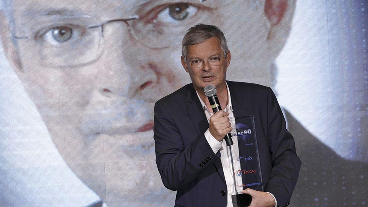 Gilles Cochevelou, chief digital officer de Total lors de la cérémonie des Trophées eCAC40, le 9 octobre dernier.