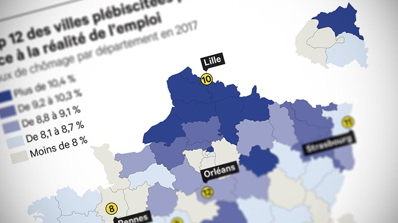 Ce sont ses nombreuses opportunités professionnelles qui permettent à Lyon d'obtenir la seconde place, et leur dynamisme économique qui positionnent Nantes et Toulouse en troisième et quatrième positions.