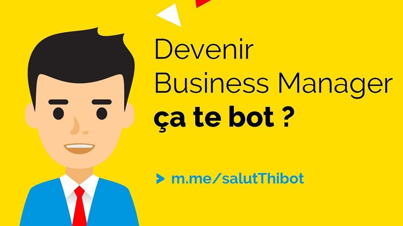 Avec son sourire très avenant, Thibot est un conseiller carrière d'un nouveau genre, un accompagnateur virtuel qui guide les candidats sur le chatbot créé par Alten.