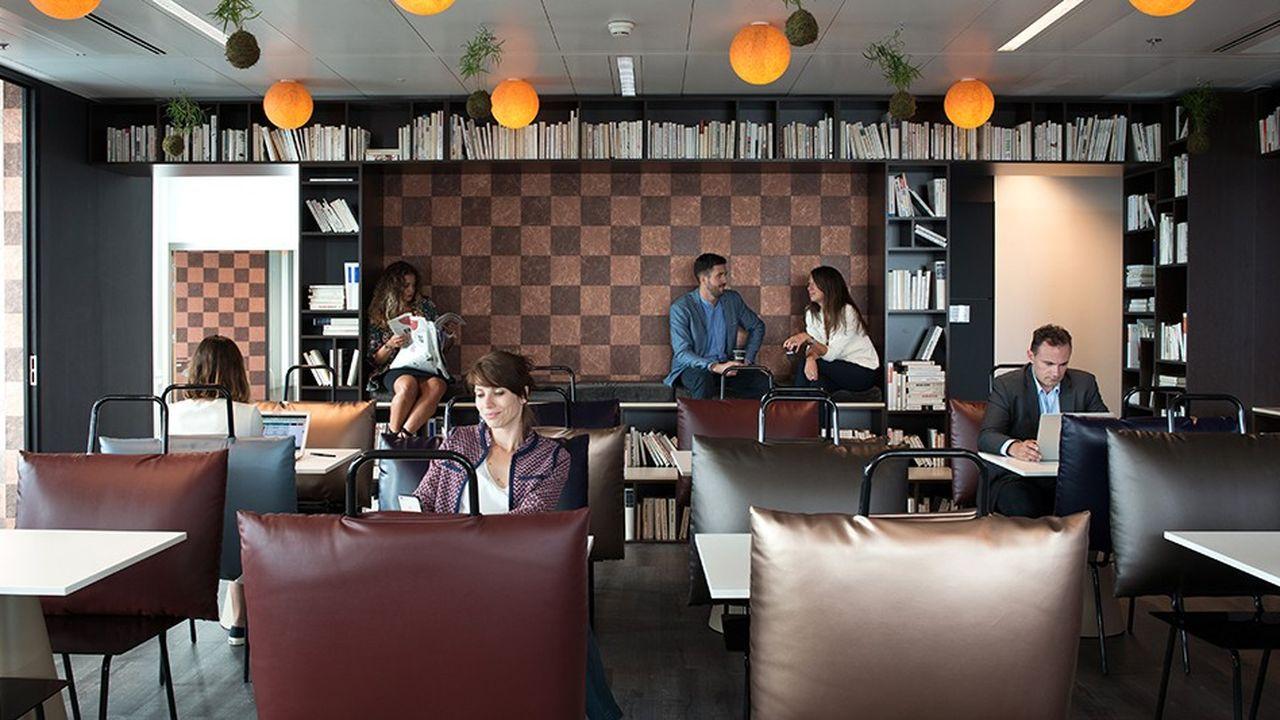 L'espace Kwerk de La Défense abrite une zone bien-être avec bulle de méditation et espace fitness.