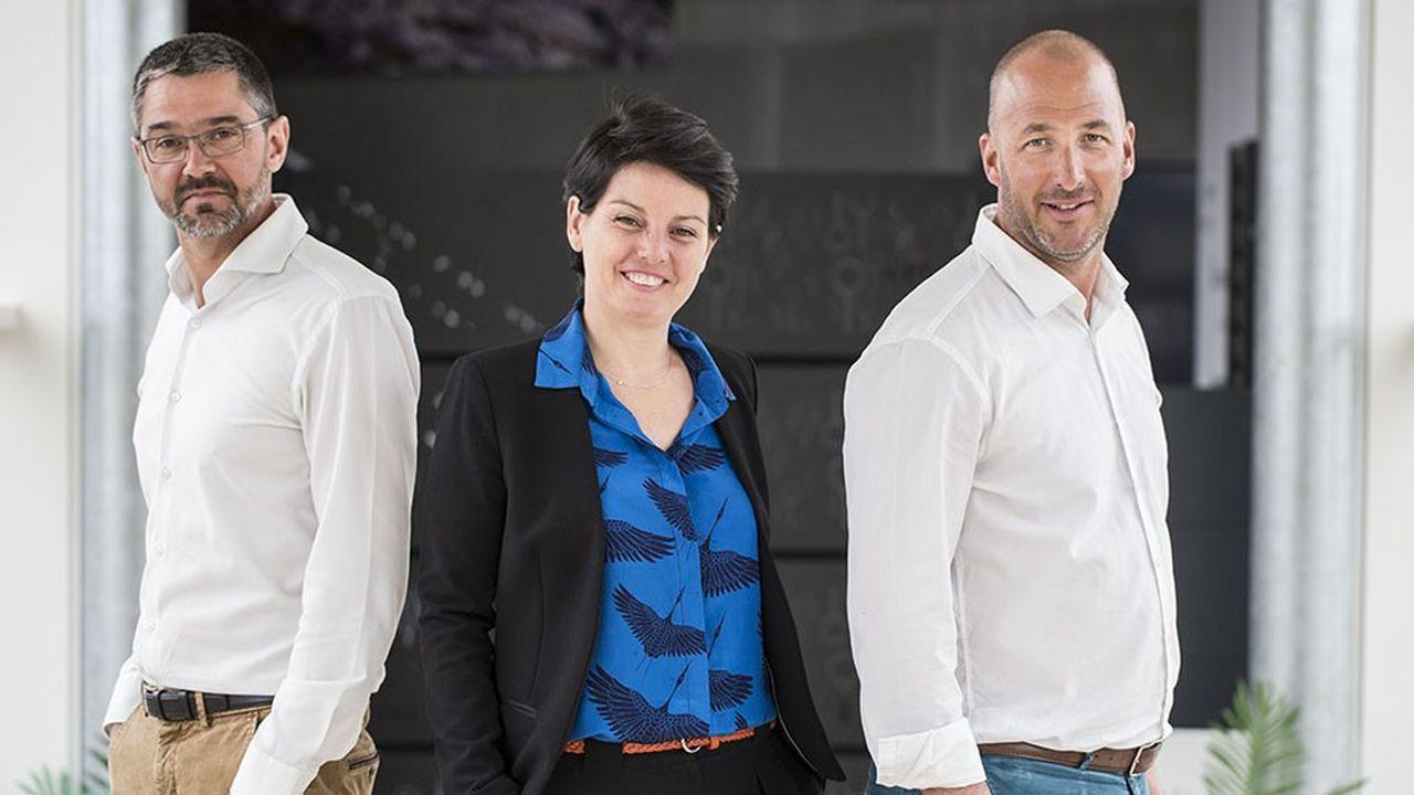 Emmanuelle Legault a racheté l'entreprise Cadiou avec son mari, Jean-François Legault, à droite, et Anthony Bihan, son beau-frère.