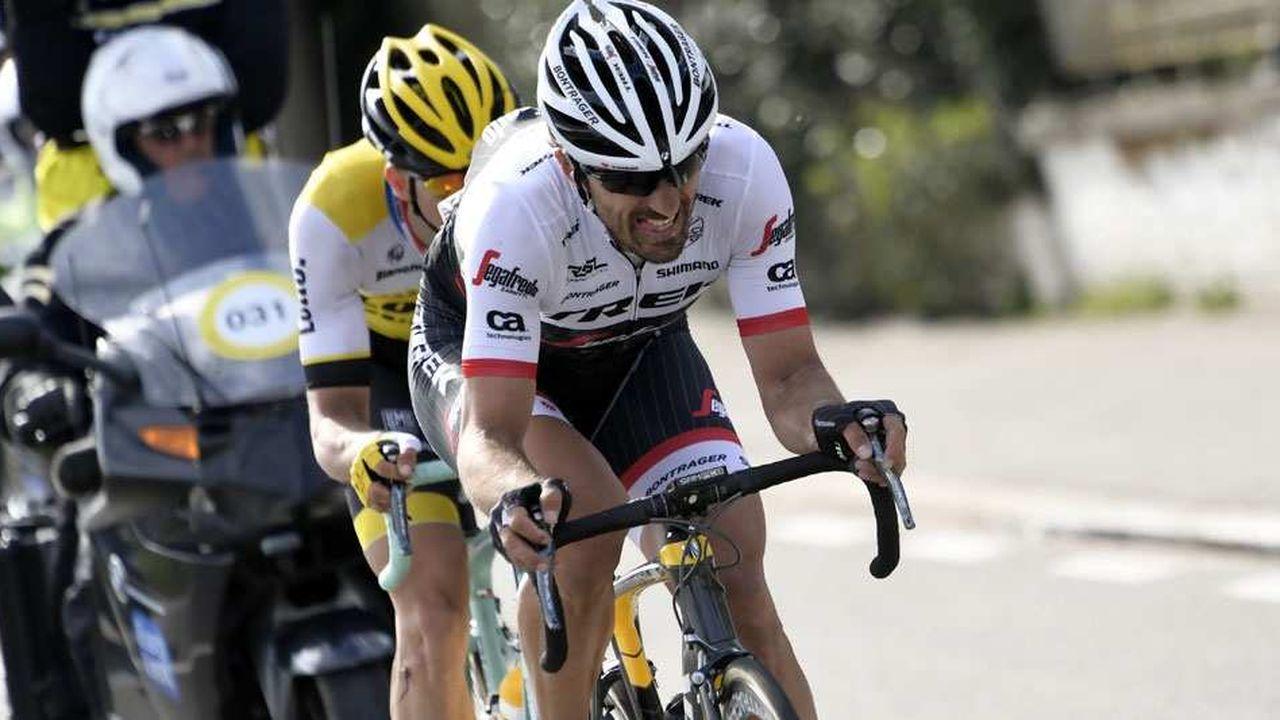 Les coureurs cyclistes de l'équipe Trek-Segafredo (ici Fabian Cancellara) ont participé à l'élaboration des vélos Trek en partageant leurs données d'entraînement avant le Tour de France.