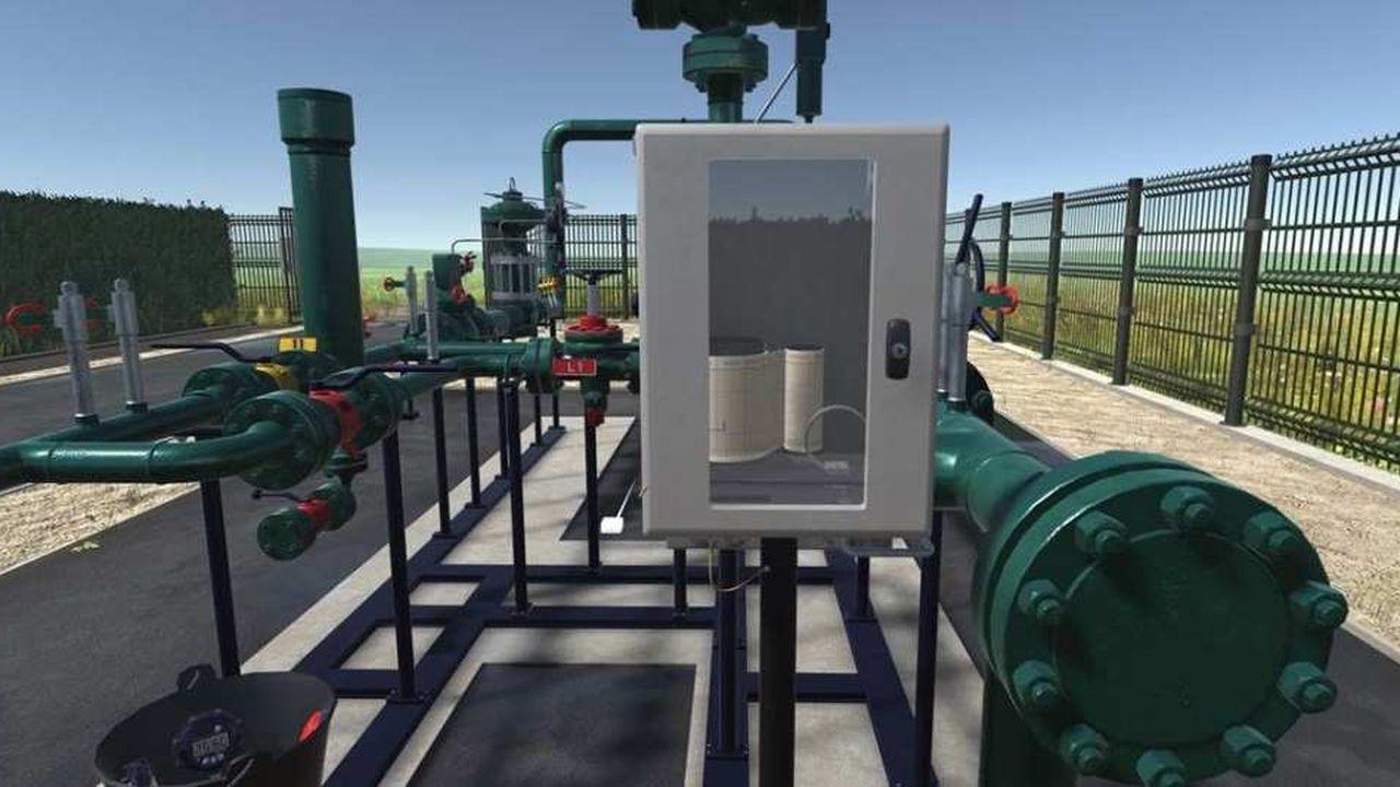 Grâce à une application de réalité virtuelle, les techniciens de GRT Gaz pourront manipuler sans risques les différentes vannes d'une installation gazière, comme dans un jeu vidéo réaliste dont ils sont le personnage principal.