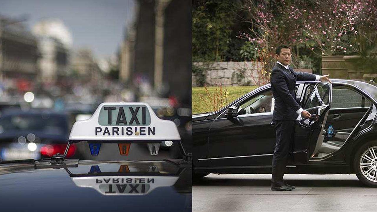 """Ambiance lors de la grève des taxis parisiens, (bloquant l'accès à la Gare du Nord), pour protester contre la société américaine """"Uber"""", entreprise technologique, developpant des applications pour mobiles, mettant en relation des utilisateurs de services de transport, avec des voitures de tourisme avec chauffeurs."""
