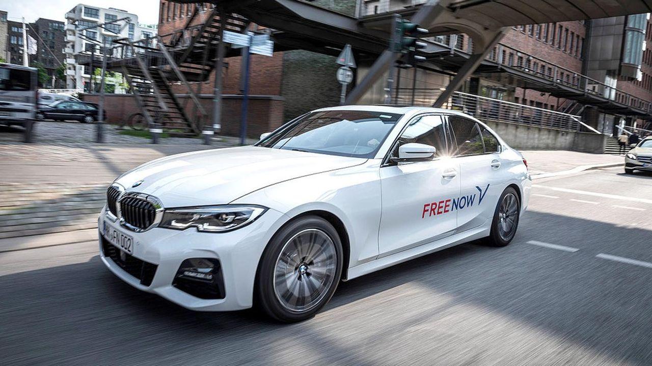 Détenu à parité par BMW et Daimler, la marque de VTC Free Now est présente dans une centaine de villes européennes, dont Berlin, Barcelone ou Milan.