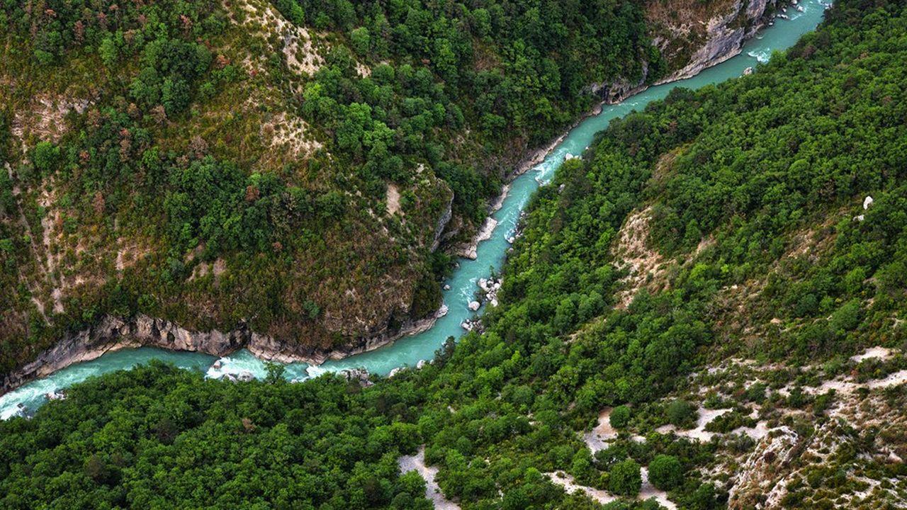 Une rivière du parc naturel du Verdon, en France.