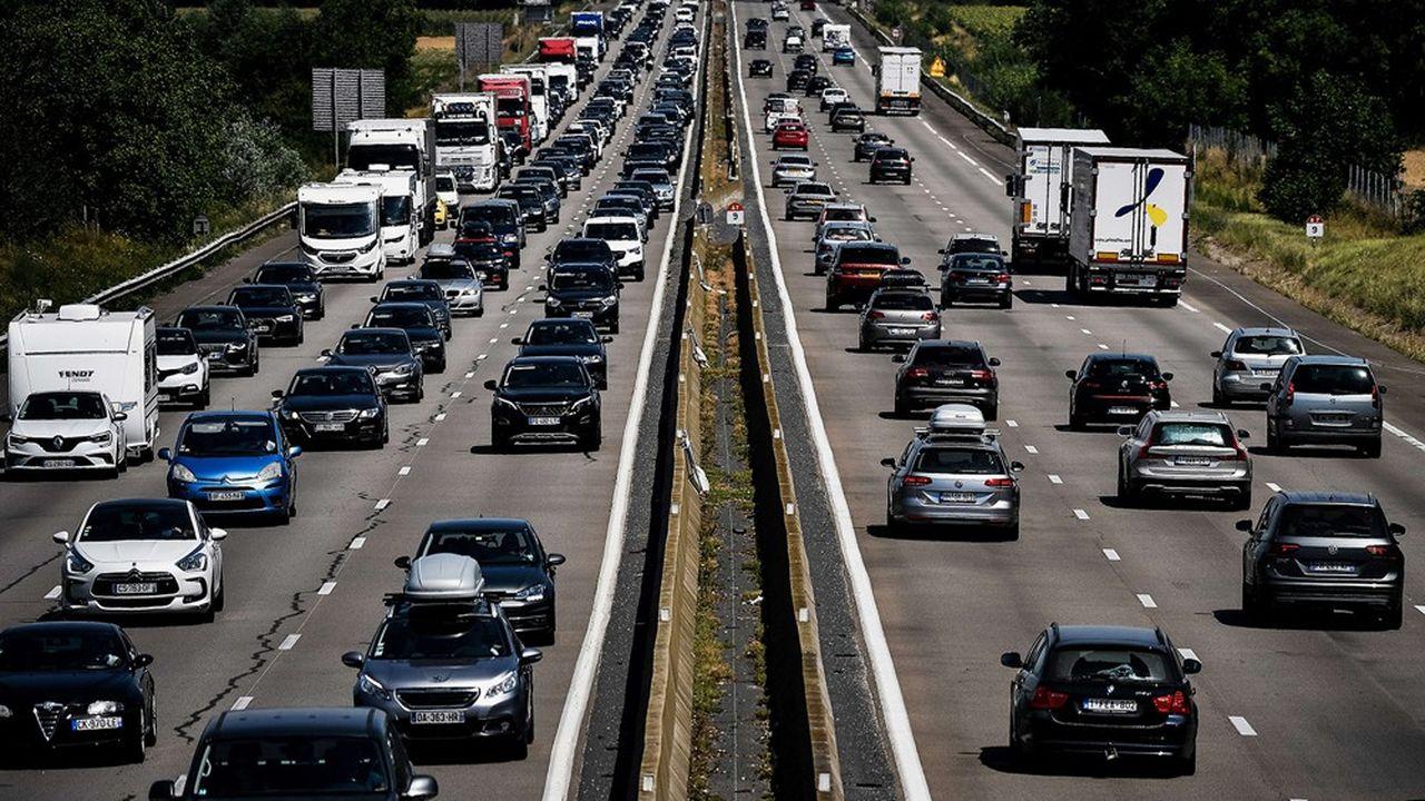 L'autoroute A7, le 1er août, en plein chassé-croisé entre «juillettistes» et «aoûtiens».