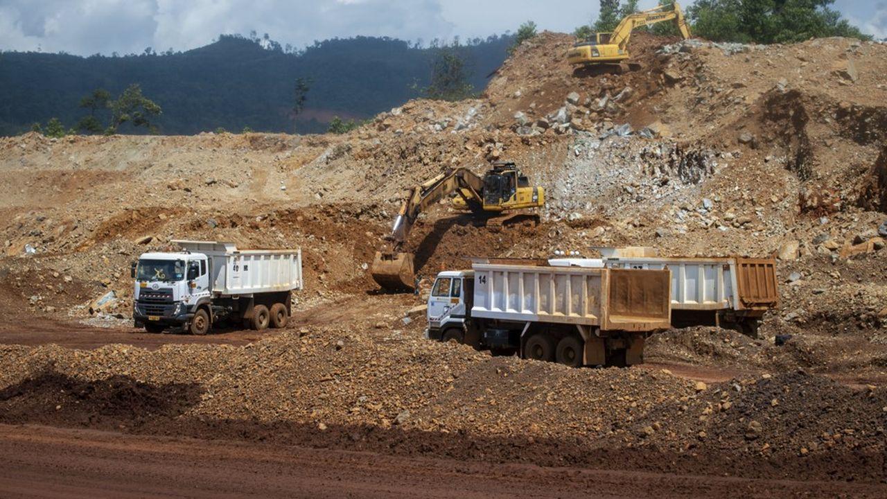 Une mine de nickel en Indonésie.