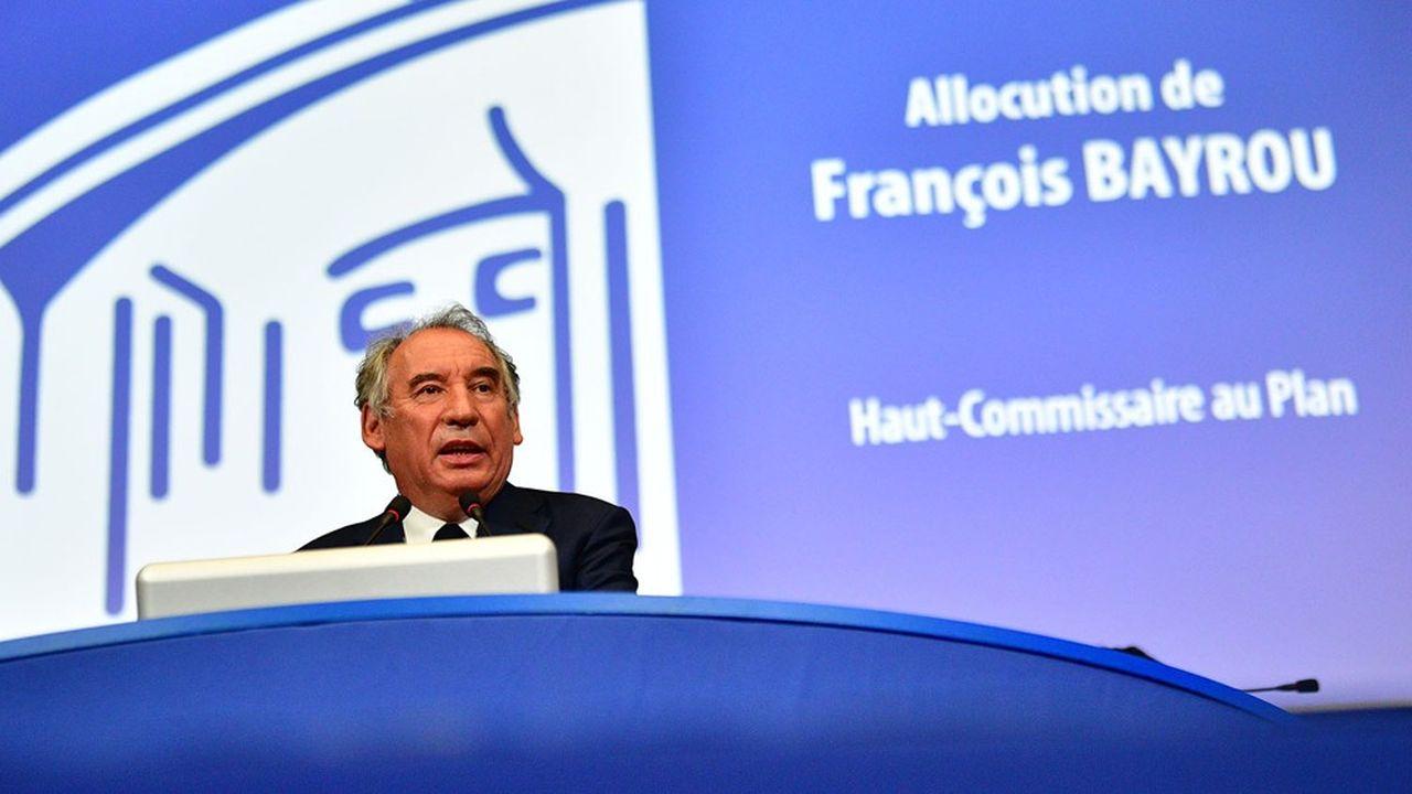 François Bayrou, nouveau haut-commissaire au Plan, a présenté ce mardi son programme devant les membres du Cese.