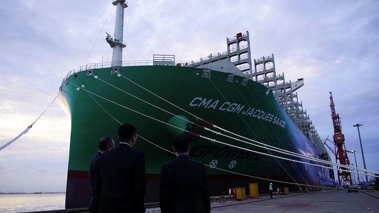 Pour son premier voyage commercial, le CMA CGM «Jacques Saadé», larguera les amarres depuis le port de Shanghai.