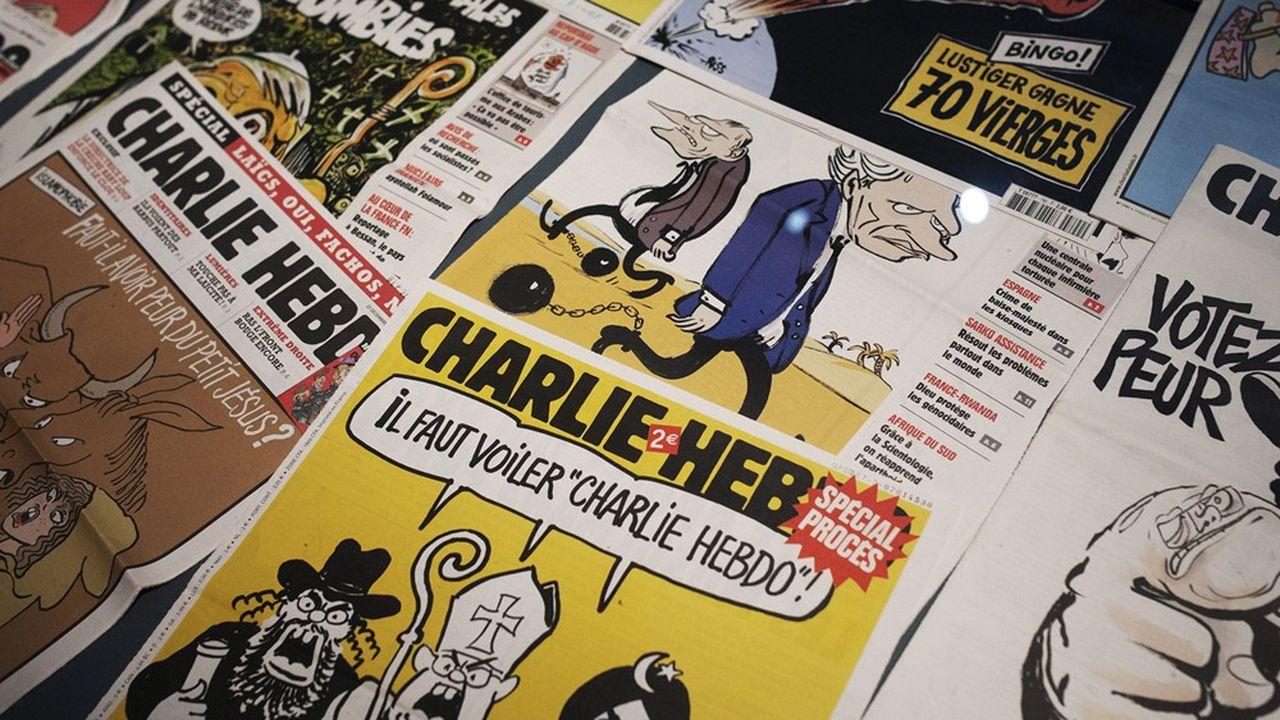 Des couvertures du journal «Charlie Hebdo».