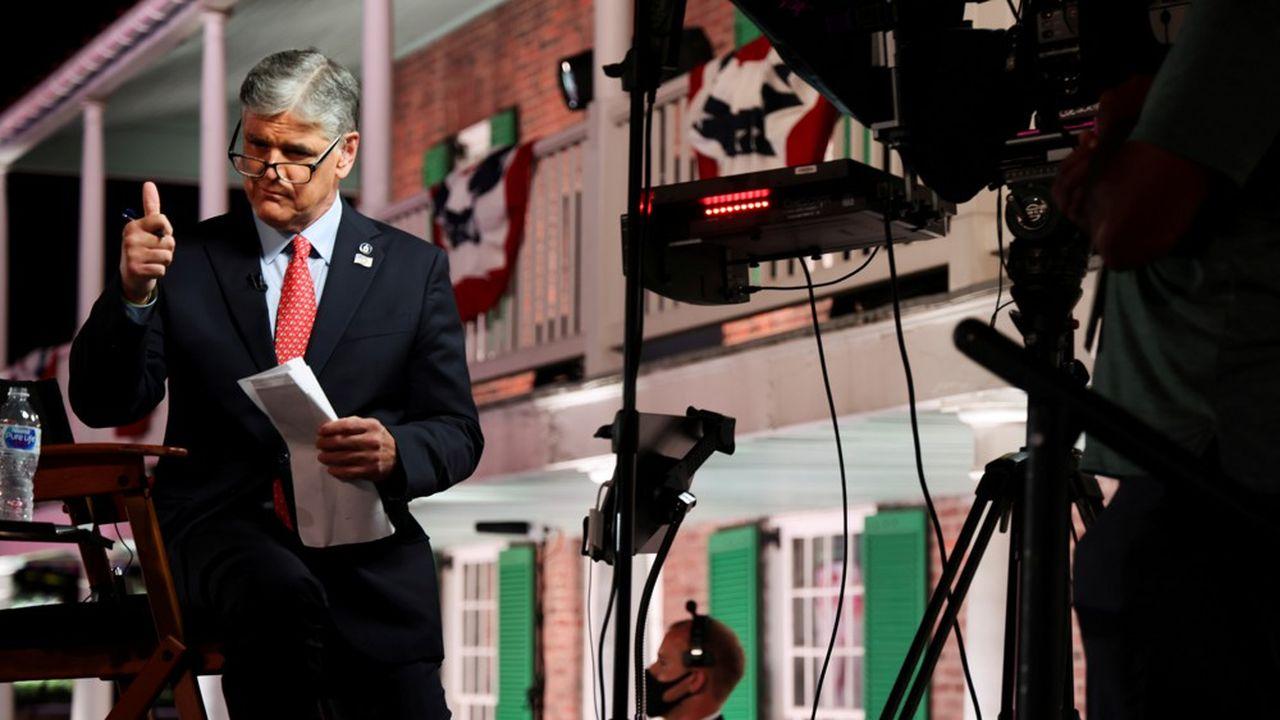 Sean Hannity, présentateur de l'émission politique «Hannity» sur la chaîne de télévision d'information en continu Fox News.