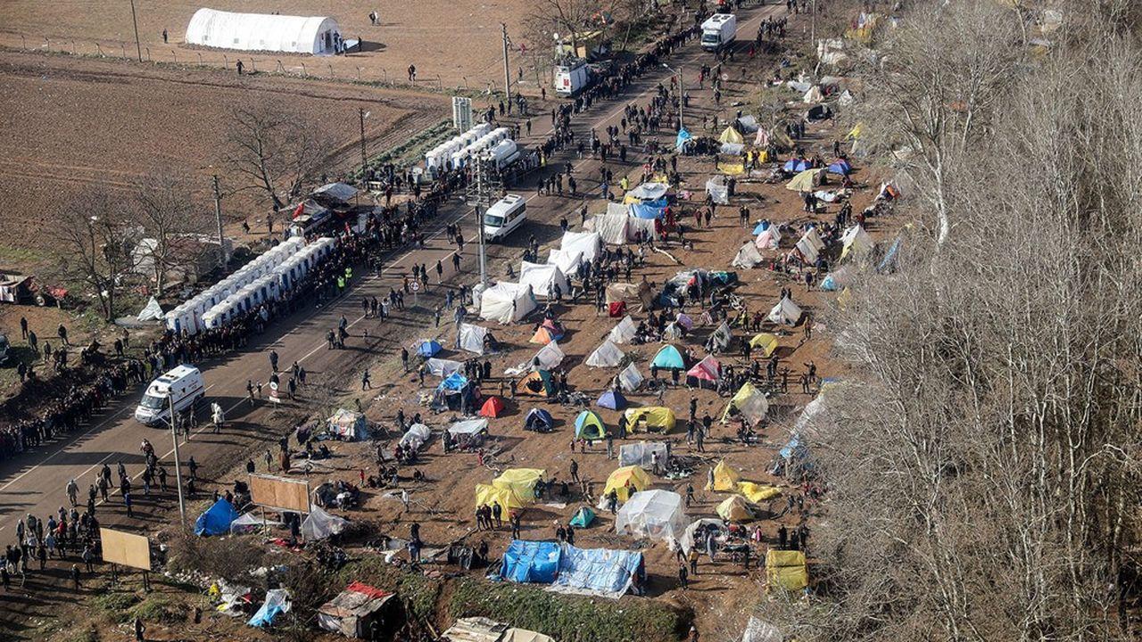 Des milliers de Syriens acheminés par Ankara à la frontière grecque se sont heurtés à la police d'Athènes en mars dernier.