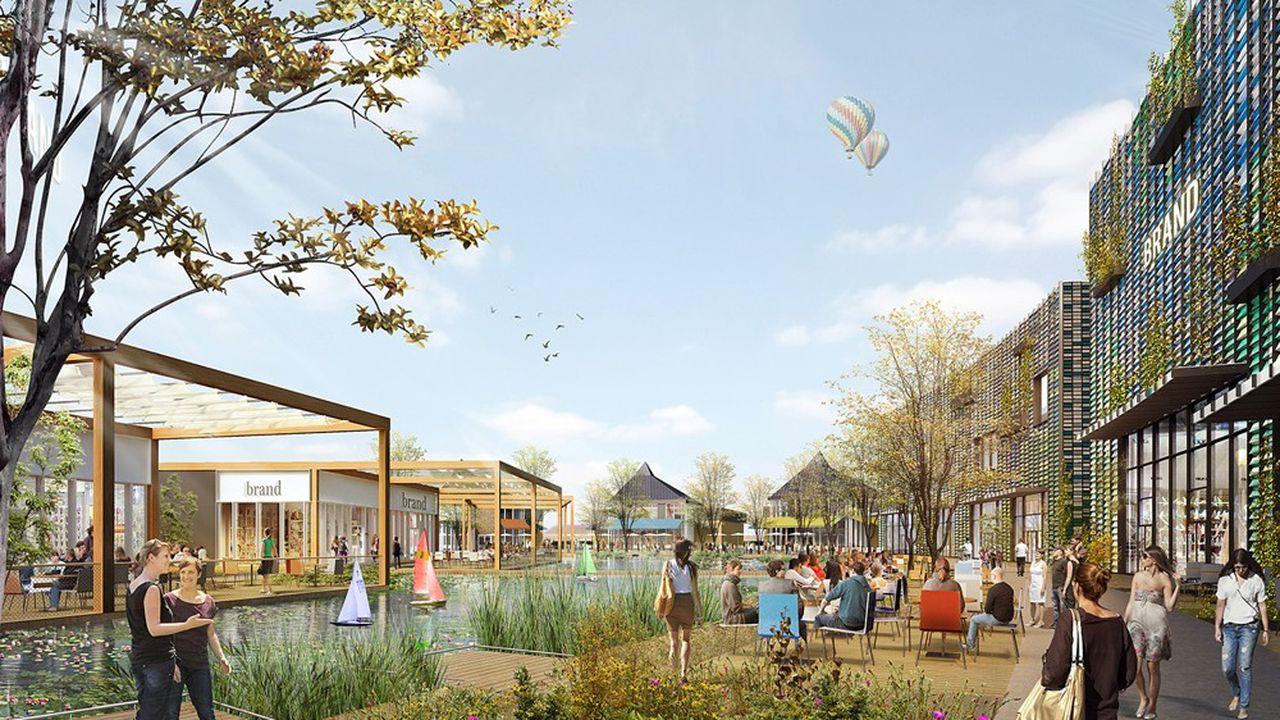 Une soixantaine de nouveaux commerces prendront place au sud de la zone avec de nouveaux services et des loisirs, dans une ambiance verdoyante.