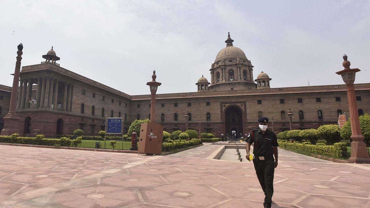La diplomatie indienne est particulièrement active sur les réseaux sociaux. Ici le bâtiment Bloc sud à Raisina Hill à New Delhi abrite notamment les diplomates indiens.