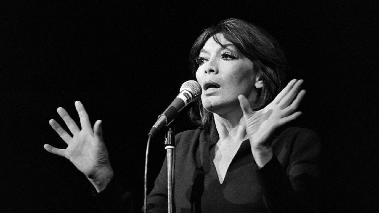 Juliette Gréco en 1979, au Palais des Congrès à Paris.