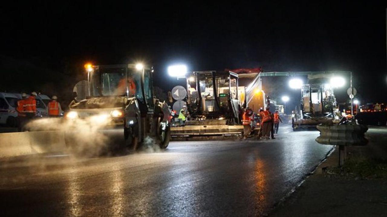 La portion de route fera l'objet d'un suivi technique pendant cinq ans.