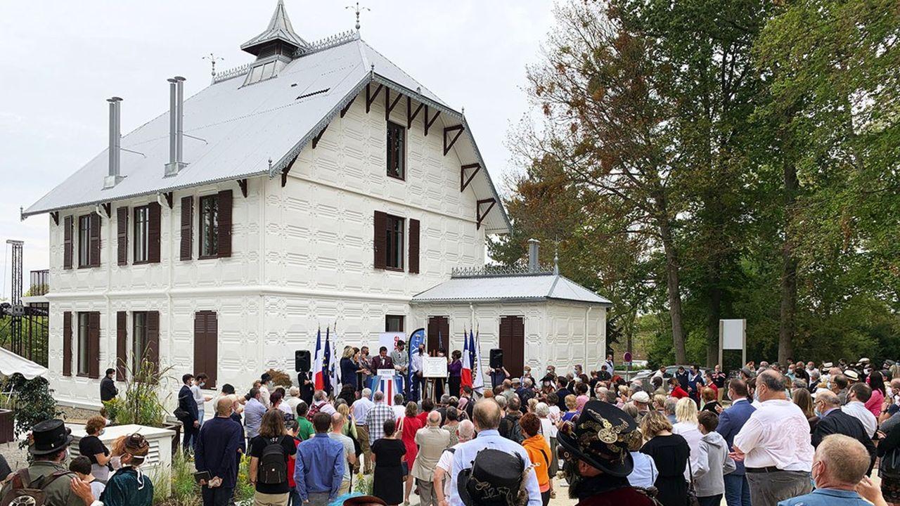 Inauguration de la Maison de Fer à Poissy lors de la journée du patrimoine.