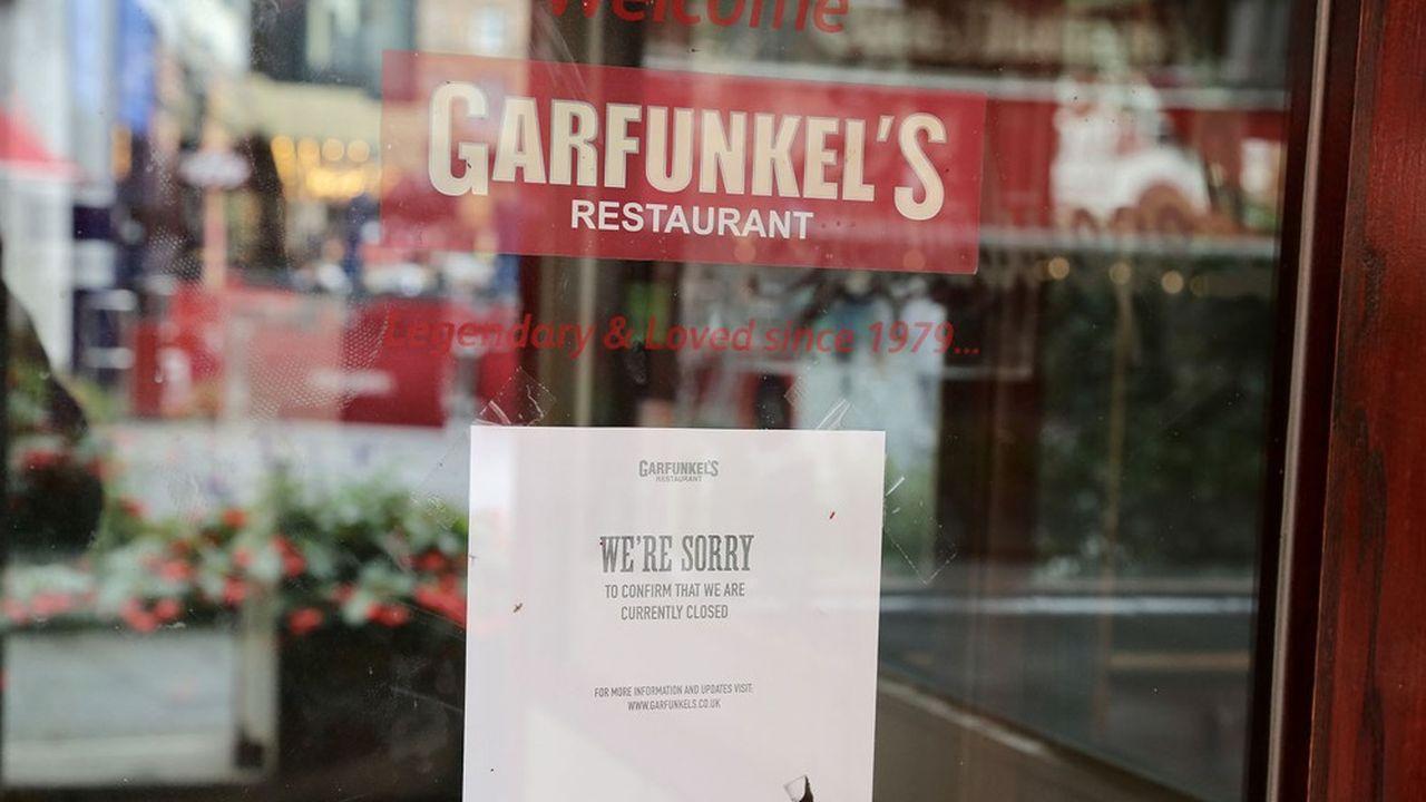 Un restaurant restant fermé à cause de coronavirus, à Londres le 7septembre.