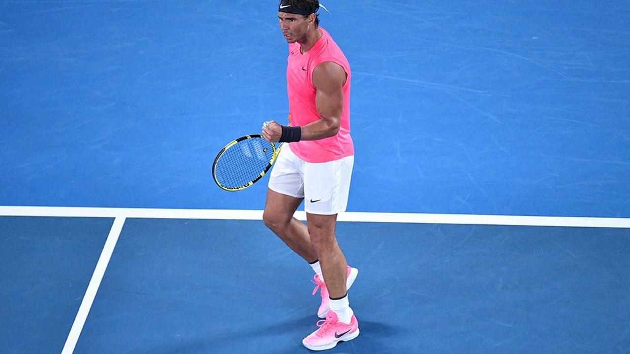 Rafael Nadal à l'Open d'Australie en janvier 2020.