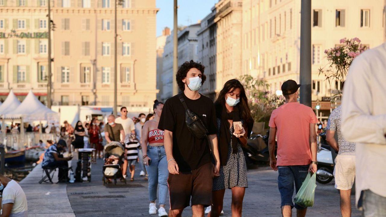 L'incidence du coronavirus a diminué ces derniers jours à Marseille et alentours, mais cela pourrait être un effet du retard dans le dépistage.
