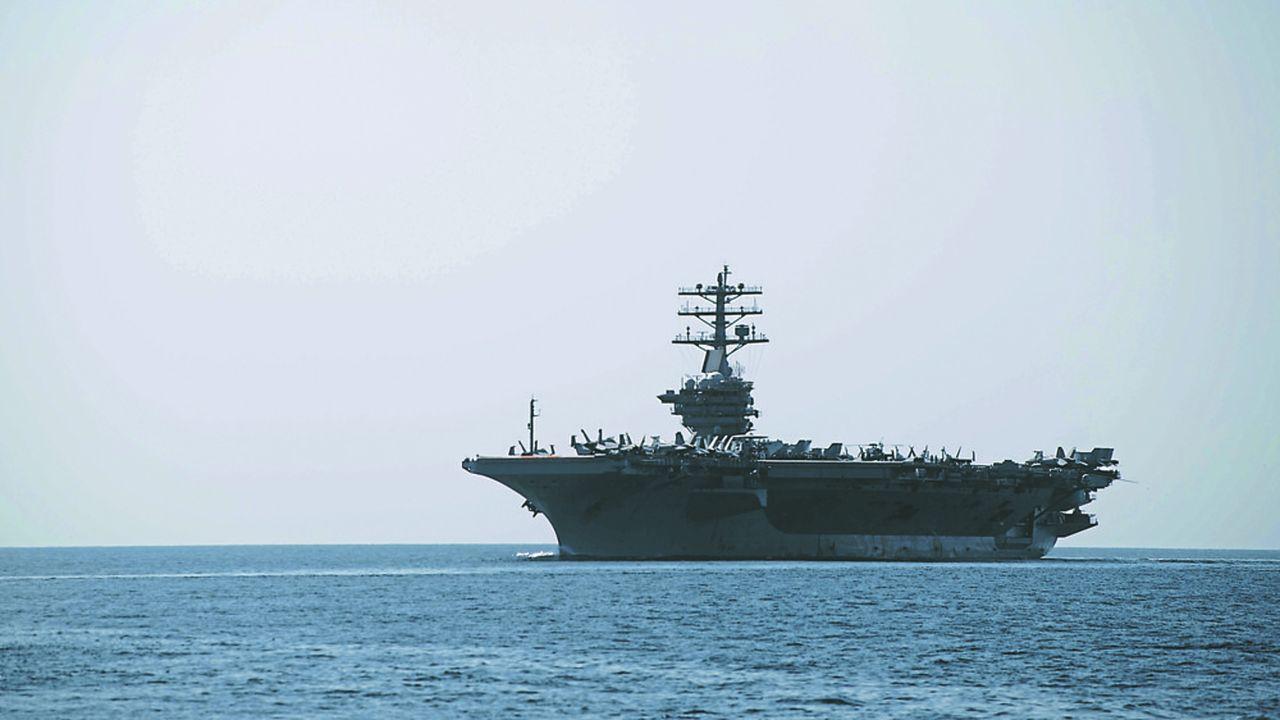 Le 18septembre, le porte-avions USS Nimitz a franchi le détroit d'Ormuz pour entrer dans les eaux du Golfe persique.