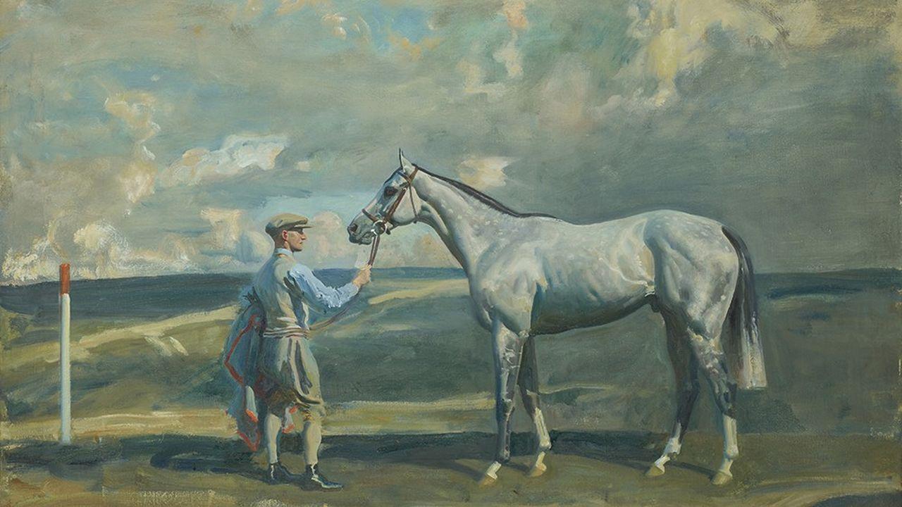 Portrait du cheval Mahmoud IV, de sir Alfred James Munnings, estimé 200.000 à 300.000 euros.
