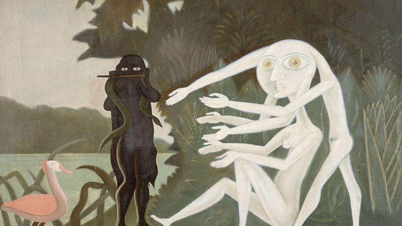 «La rencontre du 2 bis, rue Perrel», huile de Victor Brauner (1946).