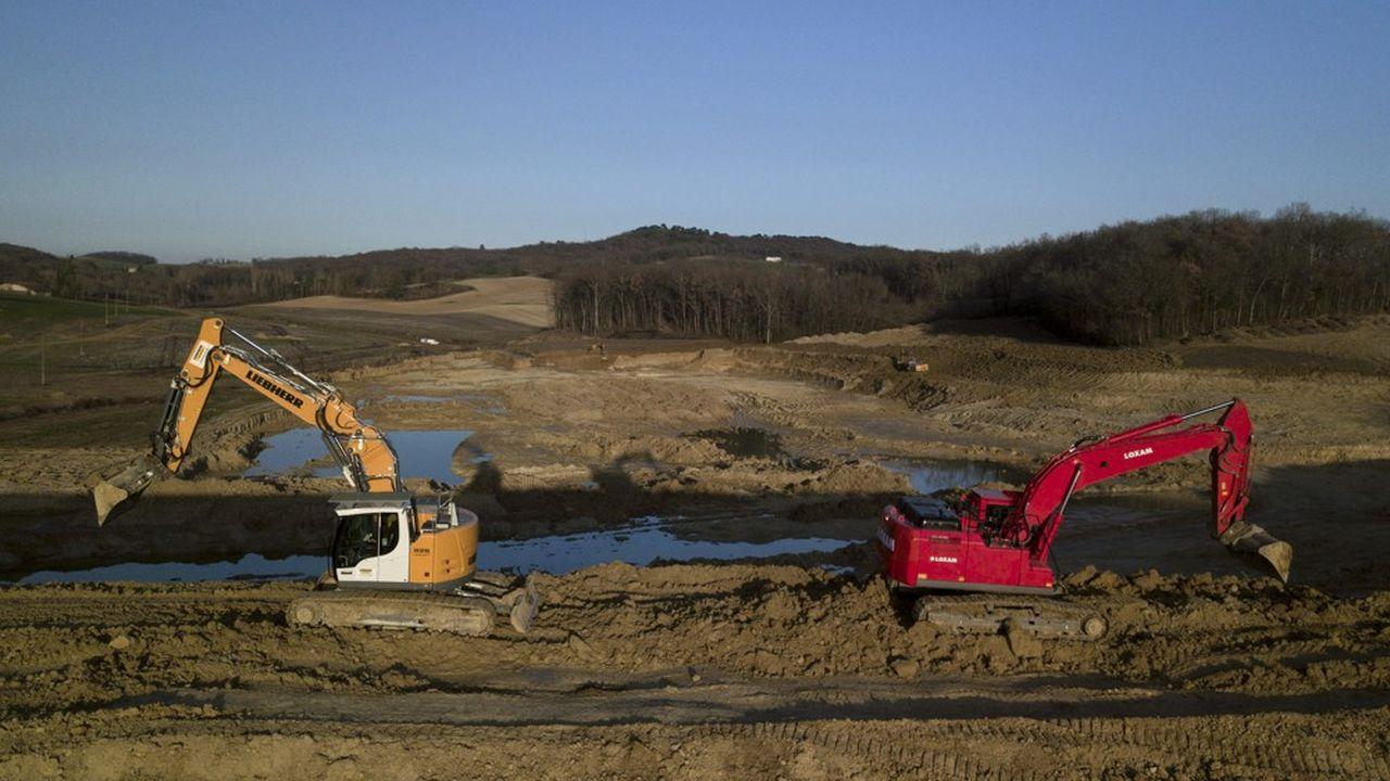 Les travaux de creusement ont été faits en 2019 par les agriculteurs.