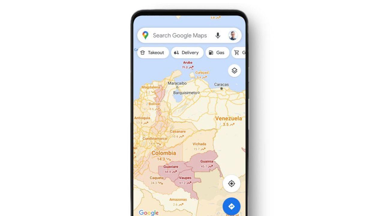 Google Maps veut permettre à ses utilisateurs d'identifier les zones de propagation du virus.