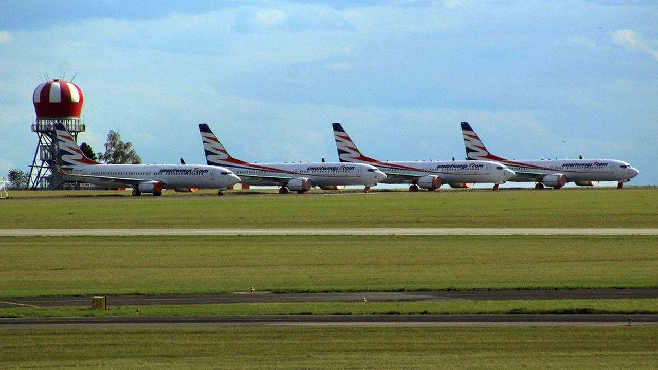 Des Boeing 737 MAX stockés sur un aéroport en République tchèque.