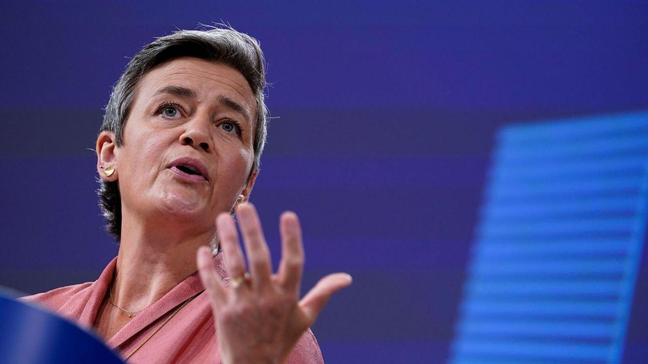 La vice-présidente de la Commission européenne, en charge de la Concurrence, Margrethe Vestager, va saisir la Cour européenne dans ce feuilleton qui dure depuis quatre ans. (Photo by Kenzo TRIBOUILLARD/POOL/AFP)