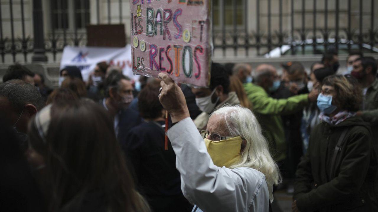 Vendredi, lors de la manifestation contre les nouvelles mesures sanitaires à Marseille.